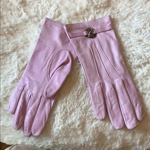 NEIMAN MARCUS 🧤Lilac Leather Gloves